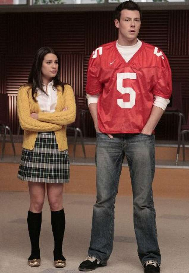 Actor Cory Monteith, right, plays Finn on Glee. (Fox)