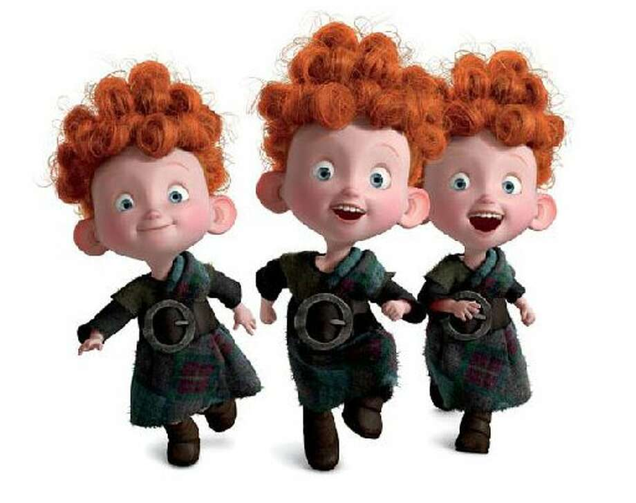 Triplets Harris, Hubert and Hamish from the film Brave. (AP Photo/Disney/Pixar)