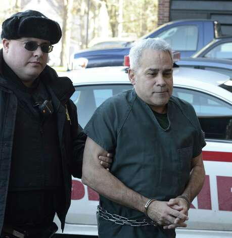 Frank Soriano is escorted to the Saratoga County Court in Ballston Spa, N.Y. Nov 29, 2012, for his sentencing for attacking another motorist in Wilton during a road-rage incident.  (Skip Dickstein/Times Union) Photo: SKIP DICKSTEIN / 00020302A
