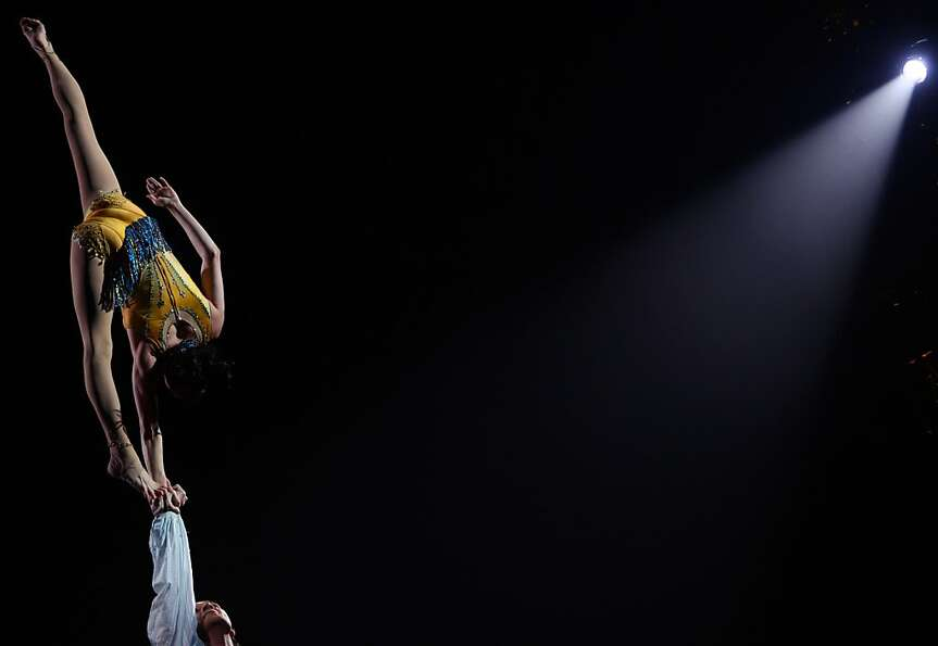 Uplifting performance: Cirque du Soleil artists rehearse the