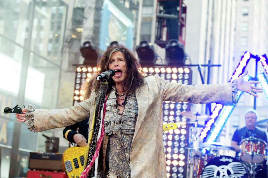"FILE - In this Nov. 2, 2012 file photo, Steven Tyler of Aerosmith performs on NBC's ""Today"" show in New York. The former ""American Idol"" judge Tyler responded on Tuesday, Nov. 27, 2012, to Nicki Minaj's claim that he's a racist during an interview with the Canadian entertainment news program ""eTalk"" following Twitter comments made by Minaj, an ""Idol"" judge this season. (Photo by Charles Sykes/Invision/AP, File) Photo: Charles Sykes"