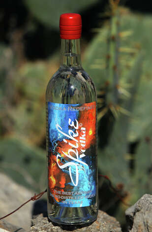 Spike Vodka is made here in San Antonio by company founder Nick Spink and master distiller Rachel Price. Price and Spink use prickly pear cactus to make Spike Vodka. Photo: JOHN DAVENPORT, San Antonio Express-News / ©San Antonio Express-News/Photo Can Be Sold to the Public
