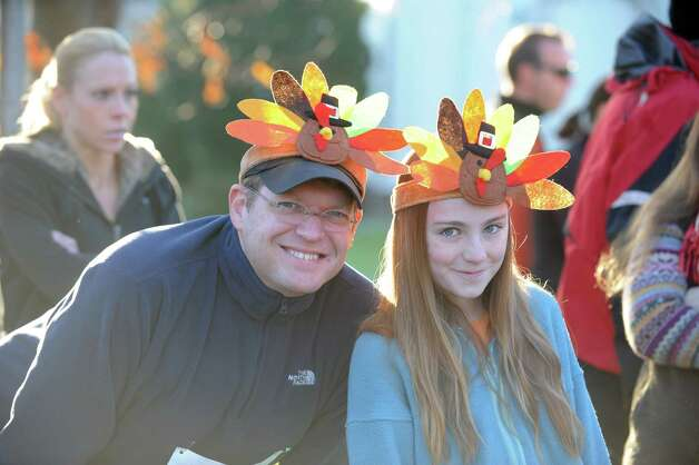 Scenes from the 35th annual Pequot Runners Thanksgiving Day Five-Mile Race Thursday, Nov. 22, 2012 in Fairfield, Conn. Photo: Autumn Driscoll / Connecticut Post