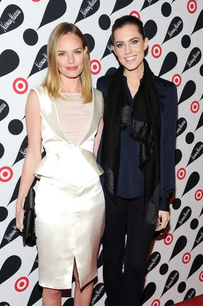 Actresses Kate Bosworth, left, and Allison Williams attend the Target and Neiman Marcus holiday coll
