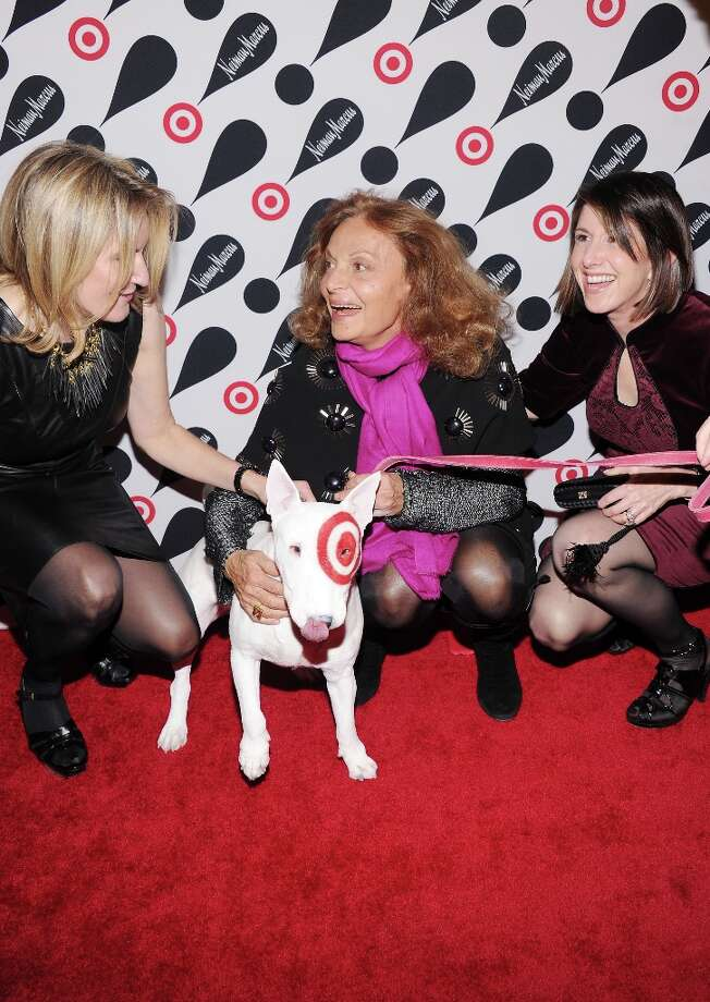 (L-R) Neiman Marcus CMO Wanda Gierhart, fashion designer Diane Von Furstenburg, and Neiman Marcus CEO Karen Katz attend the Target + Neiman Marcus Holiday Collection launch event on November 28, 2012 in New York City.  (Photo by Jamie McCarthy/Getty Images for Target) Photo: Jamie McCarthy, Getty Images For Target / 2012 Getty Images