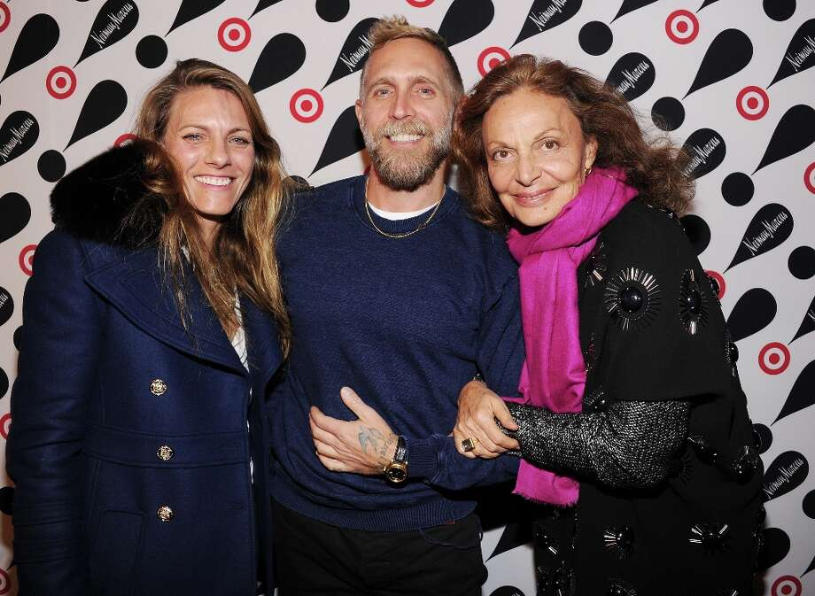 (L-R) Courtney Crangi, Philip Crangi, and Diane Von Furstenberg attend the Target + Neiman Marcus Holiday Collection launch event on November 28, 2012 in New York City.  (Photo by Jamie McCarthy/Getty Images for Target) Photo: Jamie McCarthy, Getty Images For Target / 2012 Getty Images