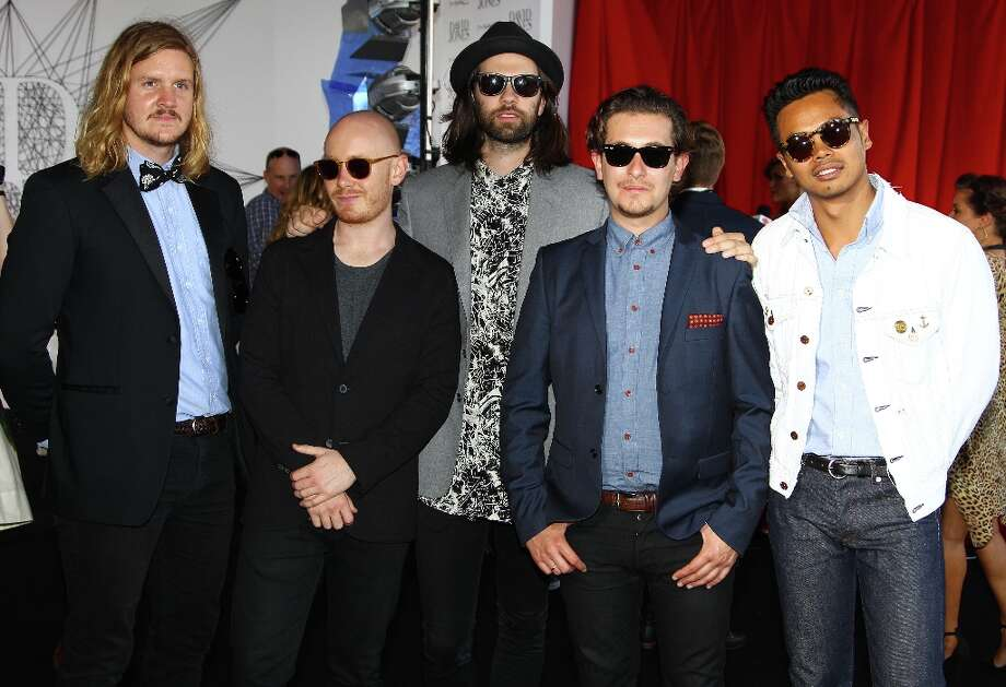 The group The Temper Trap arrive for the Australian music industry Aria Awards in Sydney, Thursday, Nov. 29, 2012. (AP Photo/Rick Rycroft) Photo: Rick Rycroft, Associated Press / AP