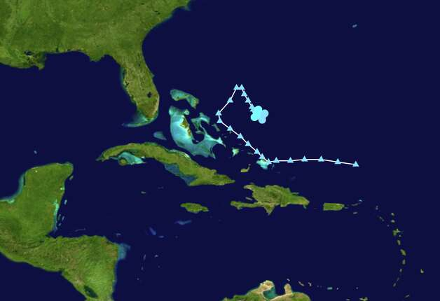 TROPICAL STORM PATTY: This storm originated near the Bahamas in early October, reaching maximum winds of 45 mph on Oct. 12, then died over the next 24 hours without any damage or casualties reported.  Photo: .