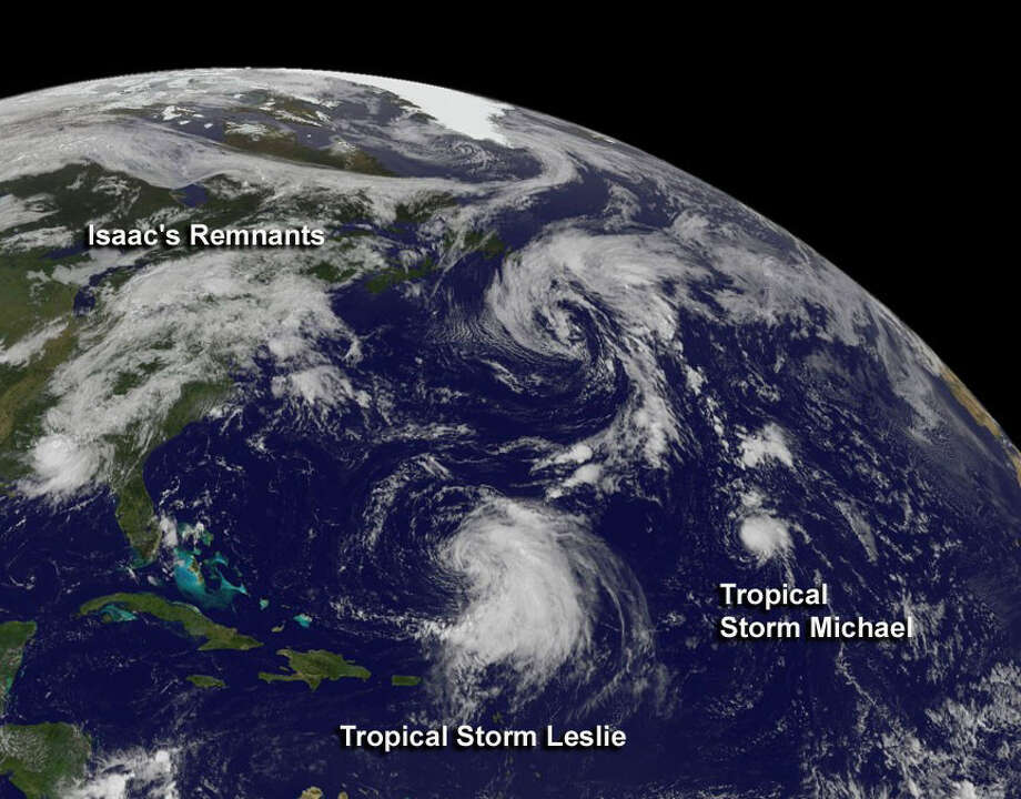 HURRICANE MICHAEL: A Category 3 storm in early September, but stayed in the open Atlantic, causing no known casualties or damage.  Photo: .