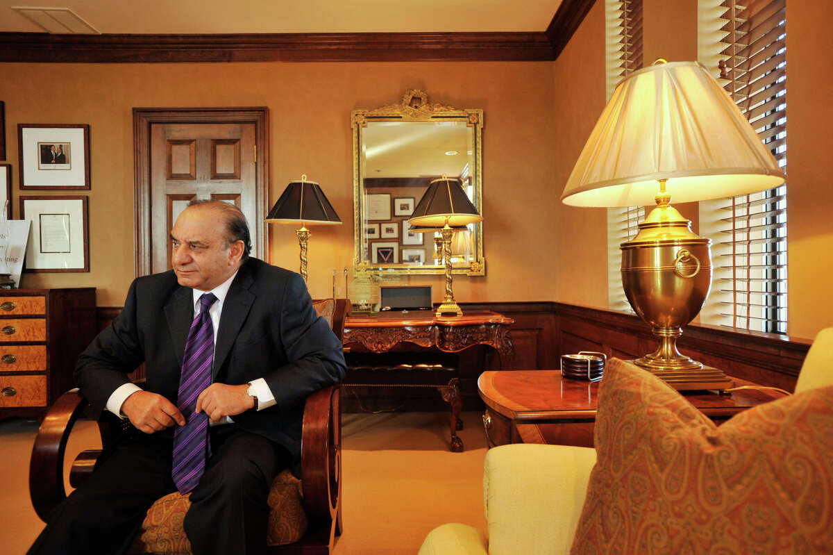 Farooq Kathwari, chaiman, president and CEO of Ethan Allen, sits in his office at his company's headquarters in Danbury on Thursday, Nov. 29, 2012.