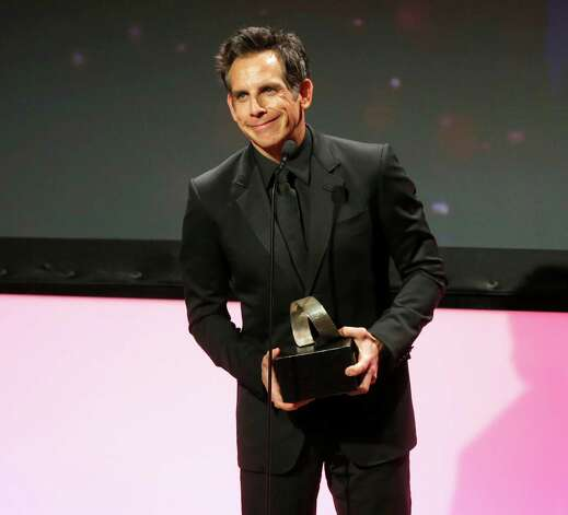 Honoree Ben Stiller accepts award onstage during the American Cinematheque 26th Annual Award Presentation To Ben Stiller 2012 at The Beverly Hilton Hotel on Thursday Nov. 15, 2012 in Beverly Hills, California.  (Photo by Todd Williamson/Invision/AP Images) Photo: Todd Williamson / Invision