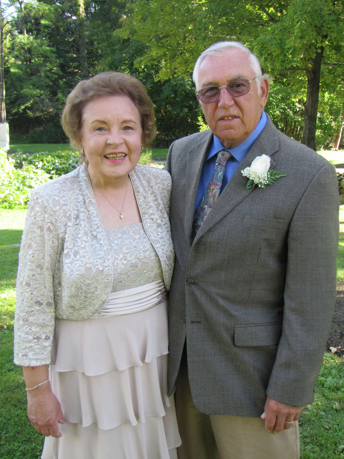 Patricia and Michael Lawrence of Danbury on their 50th wedding anniversary