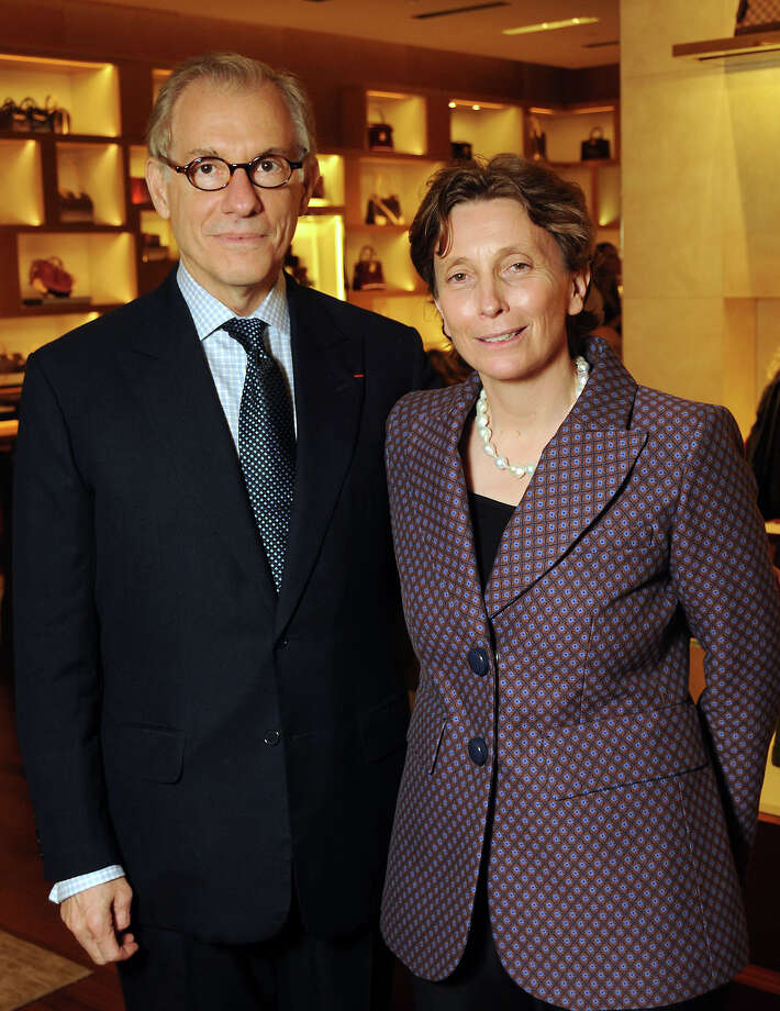Gary Tinterow and Valerie Chapoulaud-Floquet at the private dinner in the newly-renovated Louis Vuitton store in the Galleria. Photo: Dave Rossman