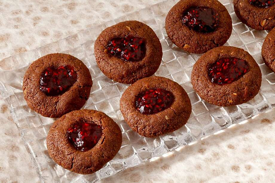 Chocolate Almond Raspberry Thumbprints: Thumbprint cookies are a holiday staple. Click here for the recipe. Photo: Craig Lee, Special To The Chronicle