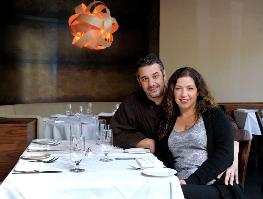 Thomas Giudice and Lisa Tassone are the owners of La Zingara, an Italian restaurant in Bethel. Photo: Carol Kaliff / The News-Times