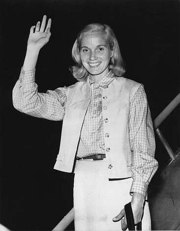 "Eva Marie Saint played Eve Kendall in ""North by Northwest."" Photo: AP Photo / AP1956"