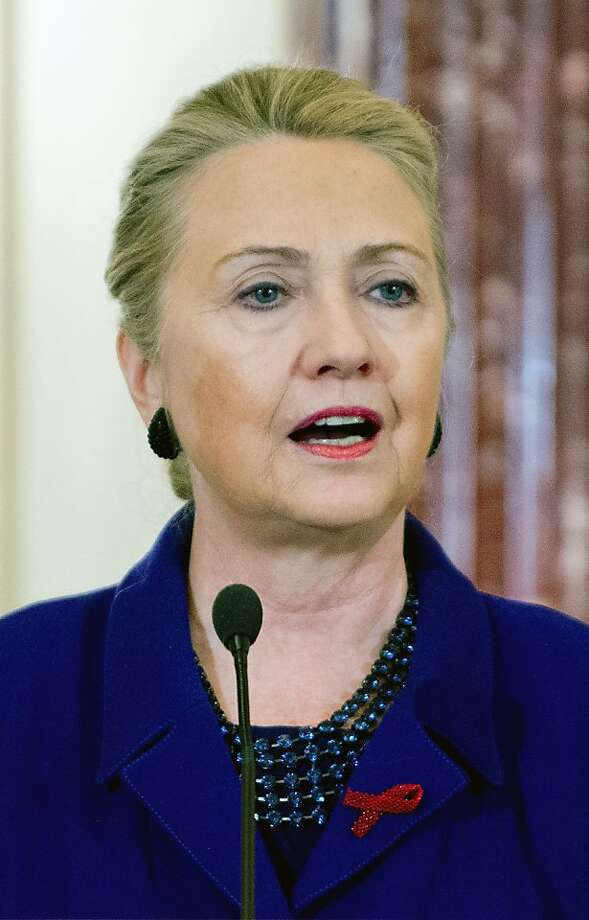 "Secretary of State Clinton: ""A goal that is within our reach."" Photo: Jim Watson, AFP/Getty Images"