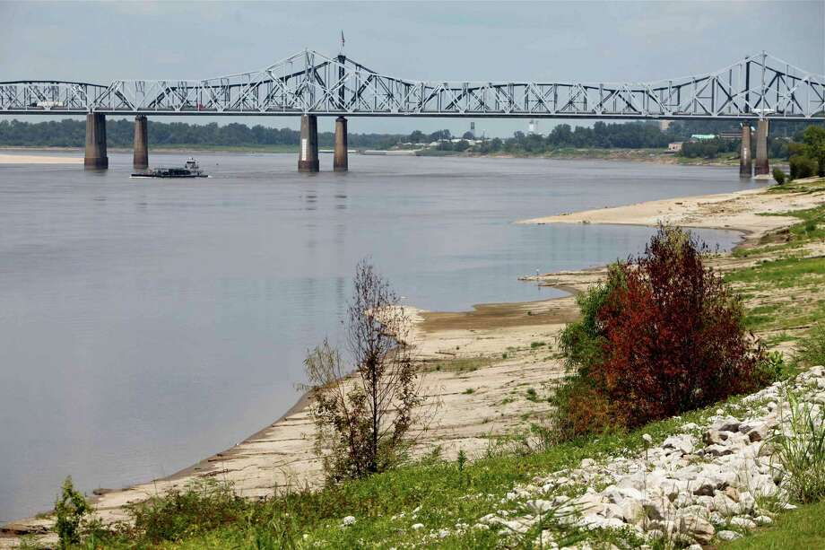 Low water on the Mississippi River, shown here near Vicksburg, Miss., is creating problems for shippers, including Houston-based ones. Photo: Robert Ray, STF / AP