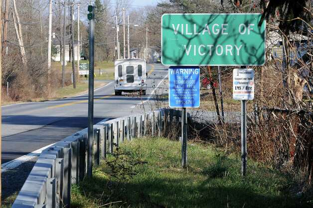 A sign welcoming drivers to the Village of Victory Thursday Nov. 29, 2012 in Victory, N.Y.  (Lori Van Buren / Times Union archive) Photo: Lori Van Buren