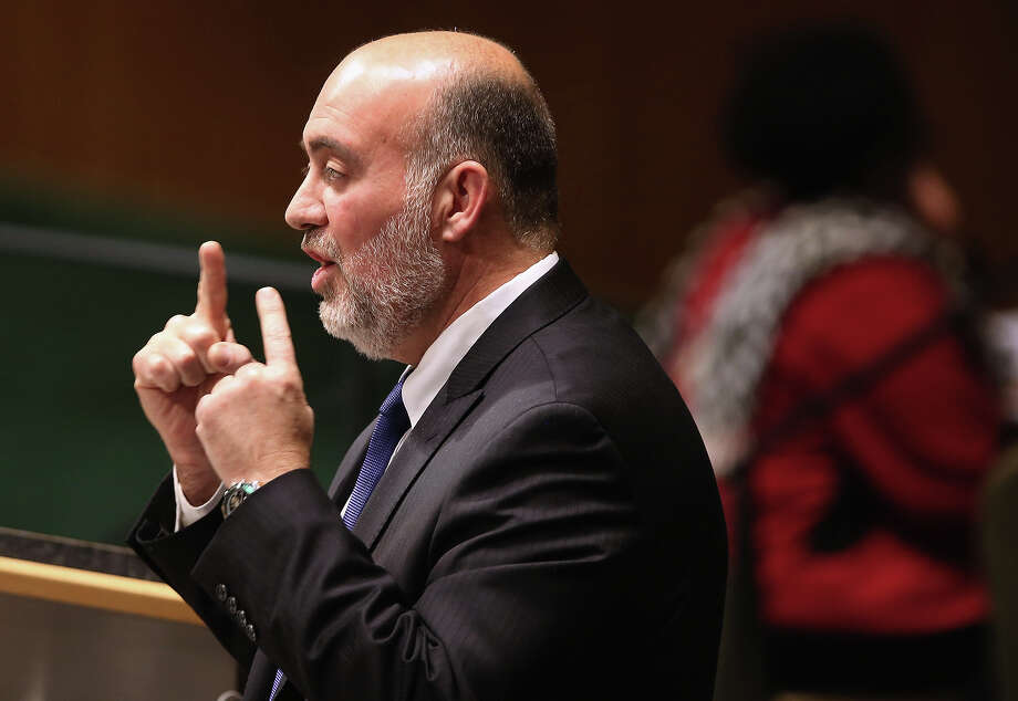 NEW YORK, NY - NOVEMBER 29:  Israeli United Nations Ambassador Ron Prosor speaks at a meeting of the General Assembly on November 29, 2012 in New York City. Israel, the United States, Canada and a handful of others voted against today's historic resolution granting non-member observer status to Palestinians. The resolution was approved by the 193-member body in a 138-9 vote, with 41 abstentions. Photo: John Moore, Getty Images / 2012 Getty Images