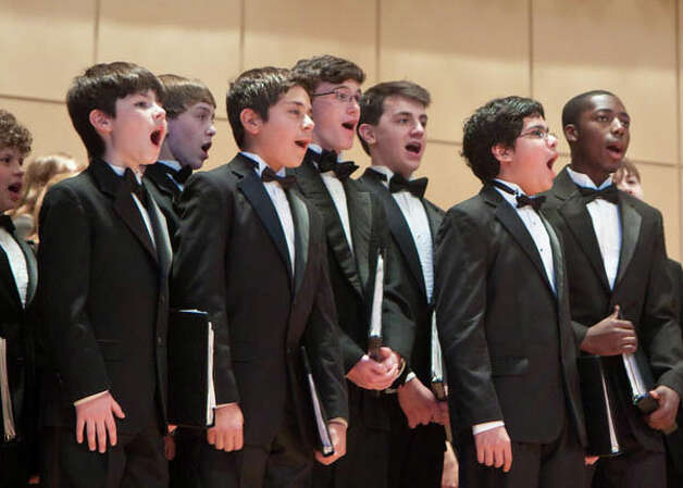 Members of the Fairfield County Children's Choir perform Saturday, Dec. 8, with the Greater Bridgeport Symphony in Bridgeport. Photo: Contributed Photo