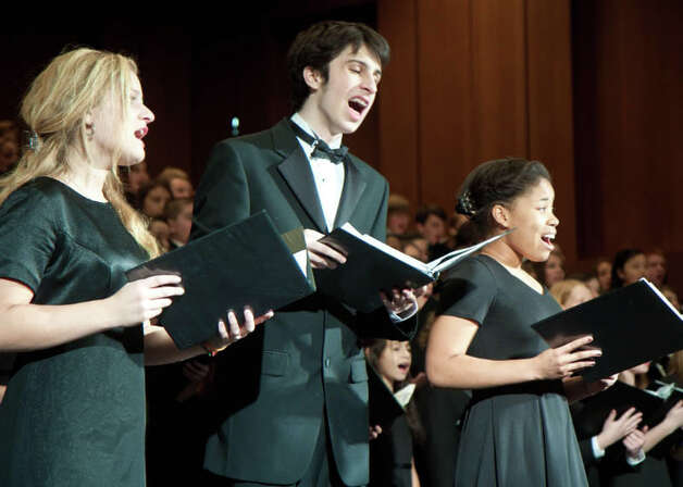 Members of the Fairfield County Children's Choir perform Saturday, Dec. 8, with the Greater Bridgeport Symphony. Photo: Contributed Photo