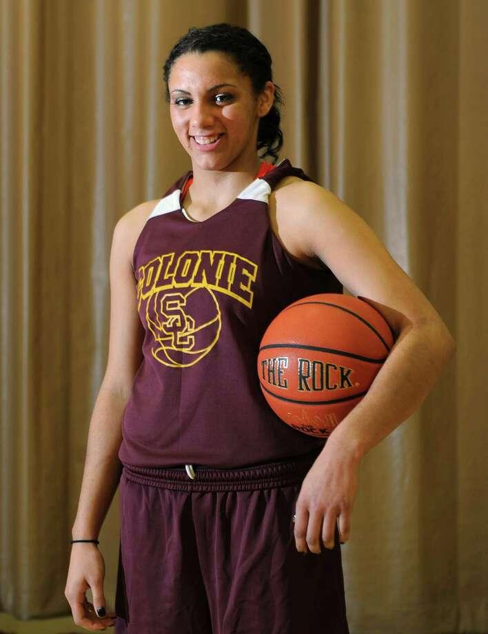 Colonie basketball star Sydnie Rosales poses for a portrait before practice on Thursday Nov. 29, 2012 in Colonie, N.Y.  (Lori Van Buren / Times Union) Photo: Lori Van Buren