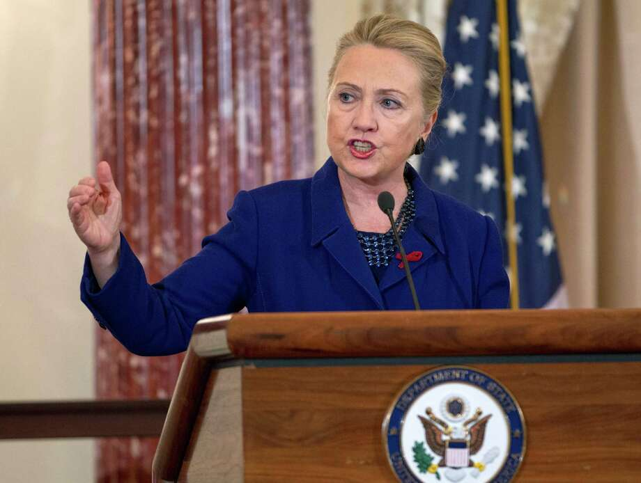 Secretary of State Hillary Rodham Clinton says failure of the United States to do its part in the AIDS fight would result in deaths around the world. Photo: Jose Luis Magana, FRE / FR159526 AP