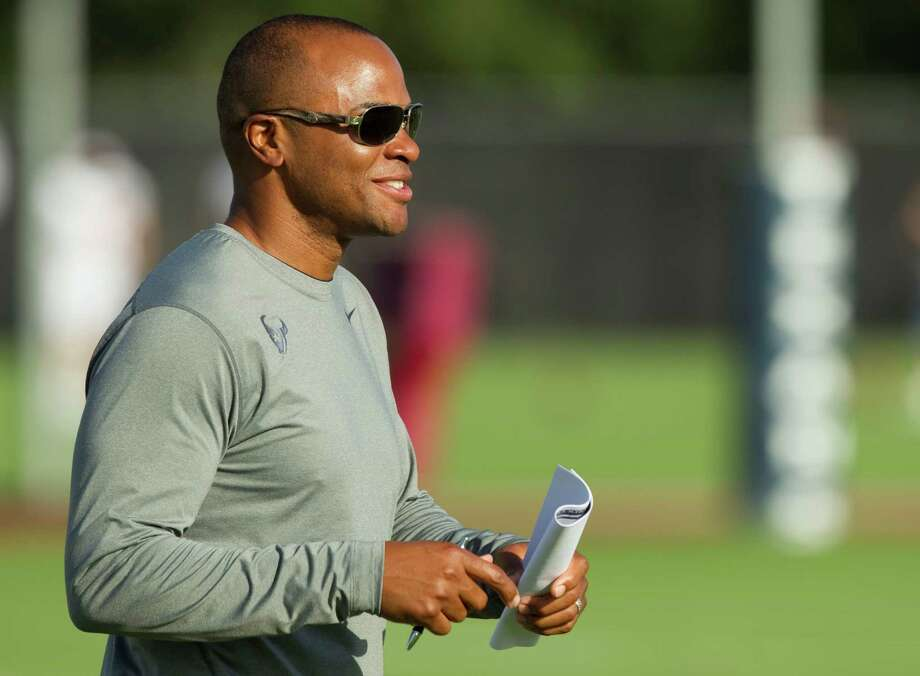 Texans general manager Rick Smith and the personnel department stay busy compiling lists of players available to plug in holes when injuries mount. Photo: Brett Coomer, Staff / © 2012 Houston Chronicle