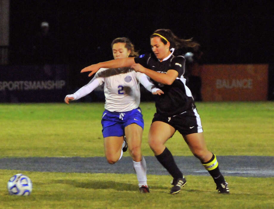 Carmelina Puopolo of Saint Rose plays against West Florida in the national semifinals on Thursday, Nov. 29, 2012. Courtesy Scott Webster