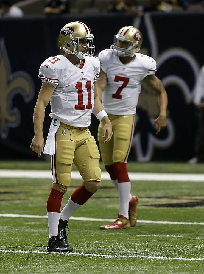 The effective performance of both Alex Smith and Colin Kaepernick would give the 49ers the perfect opportunity to utilize the two-quarterback system. Photo: Gerald Herbert, Associated Press