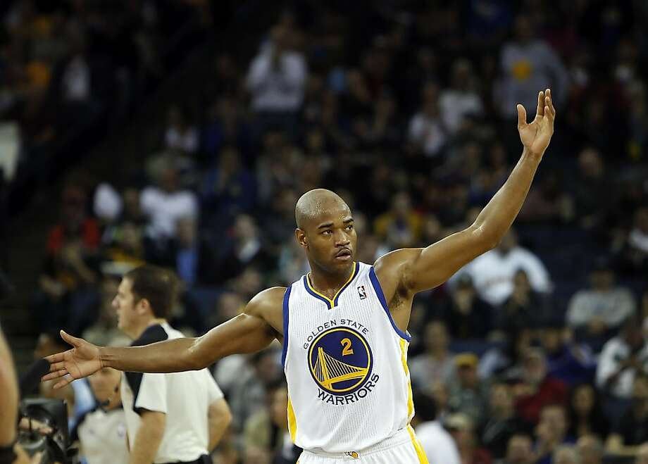 Jarrett Jack tries to get the crowd involved in the first half. The Golden State Warriors played the Denver Nuggets at Oracle Arena in Oakland, Calif., on Thursday, November 29, 2012. Photo: Carlos Avila Gonzalez, The Chronicle