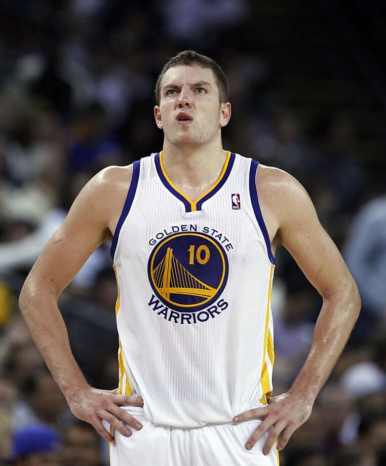 David Lee makes a face during a timeout in the first half. The Golden State Warriors played the Denver Nuggets at Oracle Arena in Oakland, Calif., on Thursday, November 29, 2012. Photo: Carlos Avila Gonzalez, The Chronicle
