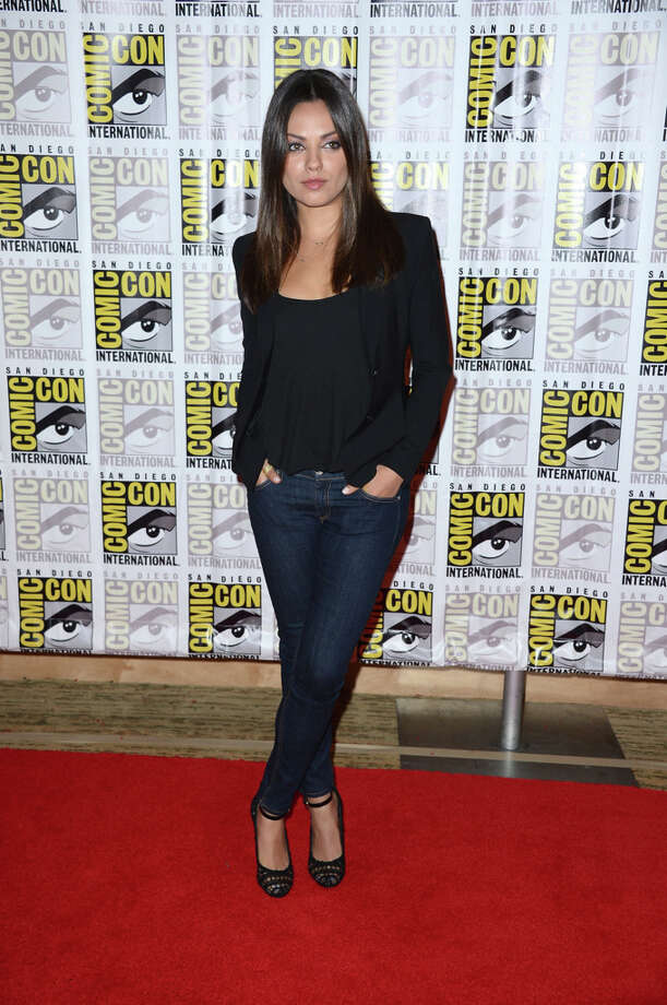 Actress Mila Kunis during Comic-Con International 2012 held on July 13, 2012 in San Diego.  Continues to rise. (Photo by Frazer Harrison/Getty Images) Photo: Frazer Harrison, Getty Images / 2012 Getty Images