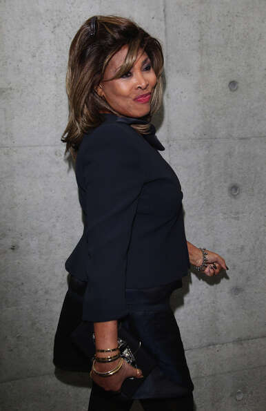 Singer Tina Turner attends the Giorgio Armani fashion show as part of Milan Fashion Week Womenswear