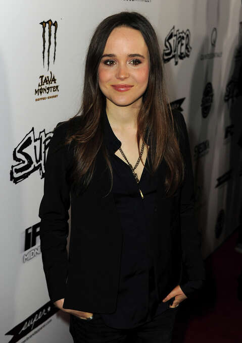 Actress Ellen Page arrives at the premiere of IFC Midnight's Super at the Egyptian Theatre on March 21, 2011 in Hollywood, California.  All in the attitude.   (Photo by Kevin Winter/Getty Images) Photo: Kevin Winter, Getty Images / 2011 Getty Images
