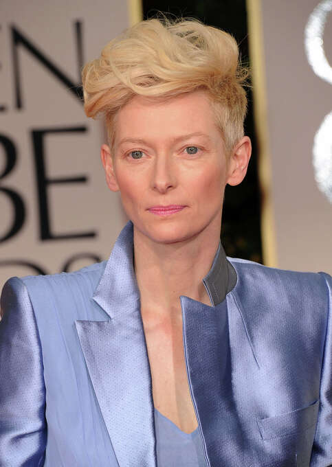 Actress Tilda Swinton arrives at the 69th Annual Golden Globe Awards held at the Beverly Hilton Hotel on January 15, 2012 in Beverly Hills, California.  (Photo by Jason Merritt/Getty Images) Photo: Jason Merritt, Getty Images / 2012 Getty Images