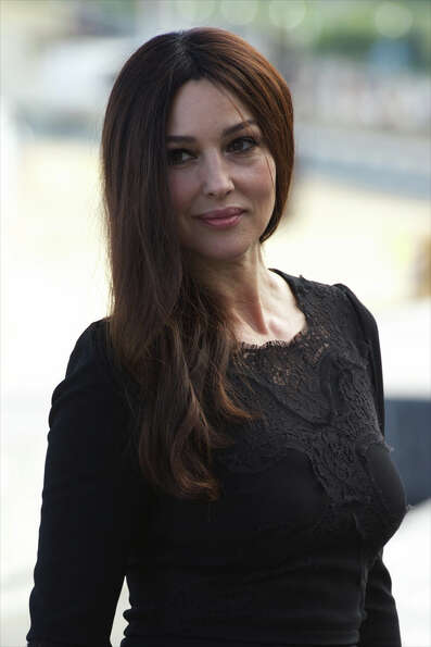 Actress Monica Bellucci on September 27, 2012 in San Sebastian, Spain.   (Photo by Carlos Alvarez/Ge