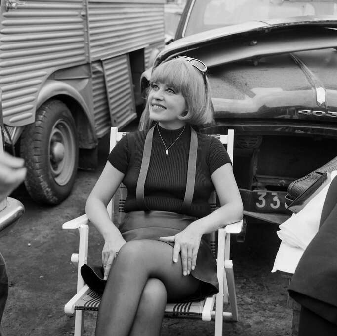 French actress Jeanne Moreau poses during the filming of La Mariée était en noir directed by Francois Truffaut, on June 23, 1967, at a discharge car in Chevilly Larue, near Paris.  Forever cool. Photo: AFP, AFP/Getty Images / 2010 AFP