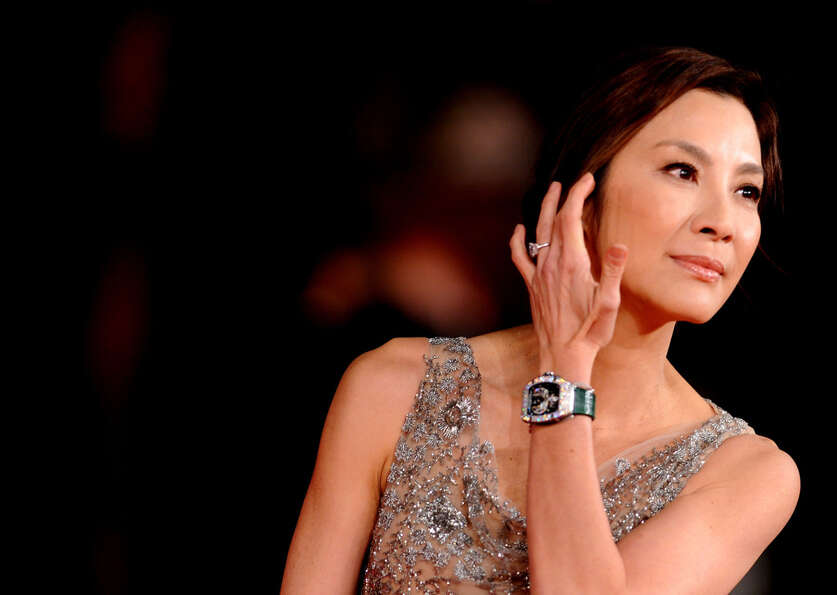 Actress Michelle Yeoh arrives for the premiere of The lady, part of the International Rome film Fest