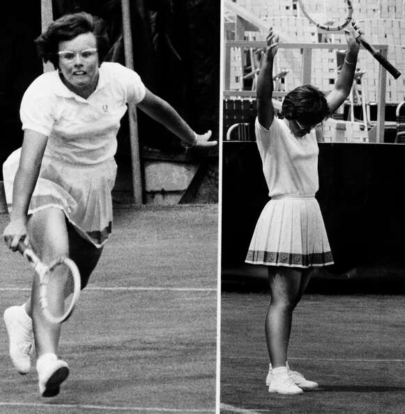 Billie Jean King -- groundbreaking athlete.
