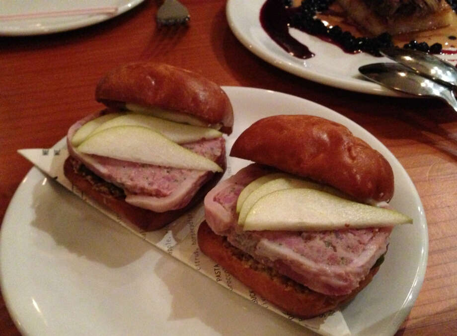 Pork pate sliders at Corner Store in San Francisco