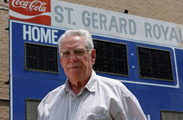George Pasterchick, 75, is retiring as football coach at St. Gerard's High School after 34 year tenure at the school. Pasterchick is also the dean of San Antonio high school football coaches. Helen L. Montoya/Staff Photo: HELEN L. MONTOYA, SAN ANTONIO EXPRESS-NEWS / © San Antonio Express-News