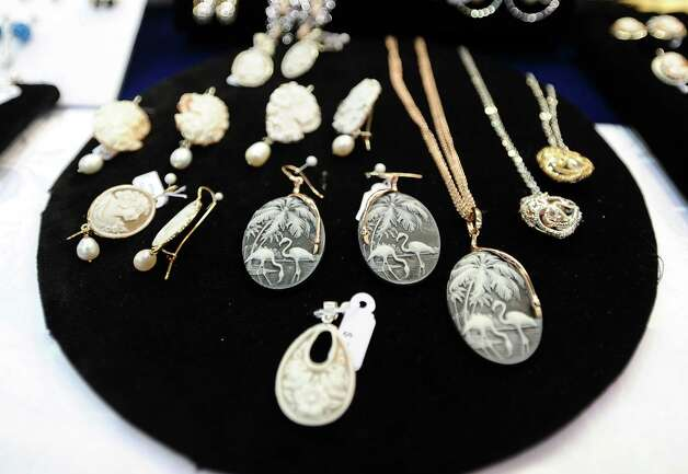DeMatteis Jewelry is in from Florence, Italy offering amazing jewelry during the Main Street Market on Thursday, November 29, 2012.  The market, presented by the Junior League of Beaumont, opened Thursday night, continues from 10 a.m. to 7 p.m. Friday and Saturday and 11 a.m. to 5 p.m. Sunday at the Beaumont Civic Center. Friday morning at 10 a.m., guests can take part in the Holiday Happy Hour brunch, which includes a style show and entertainment. On Saturday, Jingle and Mingle with a style show, entertainment, children's workshop and story time. Santa will be available from 10 a.m. to 2 p.m. Saturday for photos with kids. On Sunday, go Cruisin' to Christmas with a style show and entertainment. Throughout the four-day event, vendors will offer jewelry, accessories, clothing, shoes, handbags, maternity items, children's clothing, unique toys, home and holiday décor, food items, wine and more. Admission is $5 for adults and free for children 12 and younger. Photo taken: Randy Edwards/The Enterprise