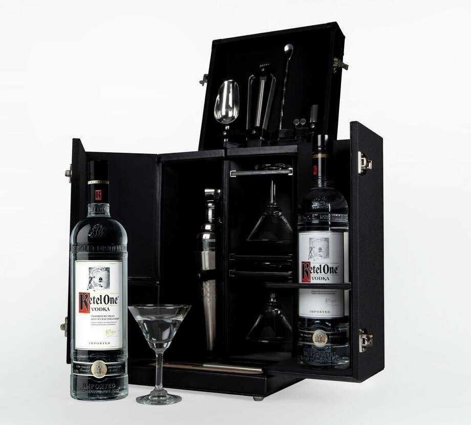 The vodka martini never had it so good. We're referring, of course, to  the new Tumi Mixology Set, a limited-edition bit of craftsmanship that  celebrates the Tumi travel accessories brand and Ketel One Vodka. The  sleek piece holds all the essential tools (including space for vodka) to  make martinis wherever you go; $3,995 at www.tumi.com. Photo: Tumi / Tumi
