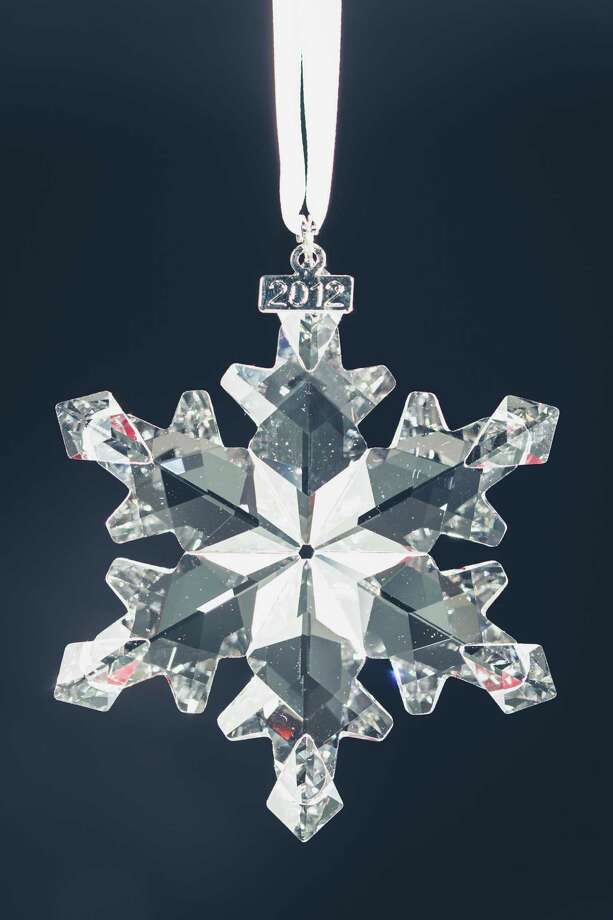 "Swarovski Crystal, Christmas Snowflake Ornament Annual Edition 2012, $75.00.  Style ""Gift Giving"" edition, Thursday, Nov. 15, 2012, in Houston. ( Michael Paulsen / Houston Chronicle ) Photo: Michael Paulsen, Staff / © 2012 Houston Chronicle"