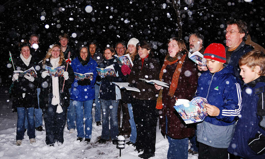 The Unitarian Church in Westport hopes to make the Guinness Book of World record for the largest group of door-to-door carolers on Wednesday, Dec. 12. Photo: Contributed Photo