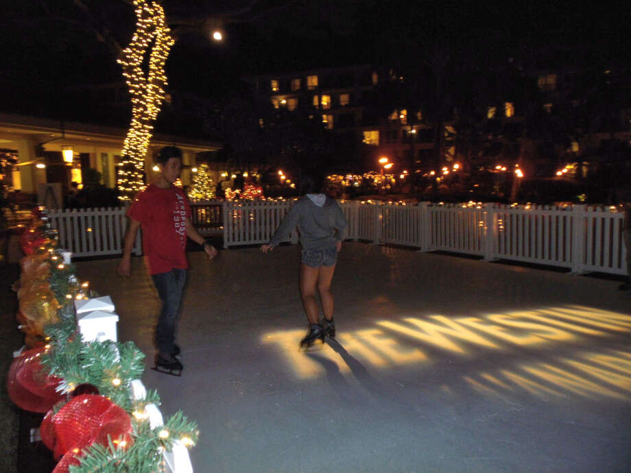 The Westin Kaʻanapali  Ocean Resort Villas' outdoor and eco-friendly hybrid ice rink -- the first of its kind at Hawaiian resorts --  can hold up to 15 skaters; it's open through Jan. 2. (Terry Shibao / Imaging Plus Hawaii)