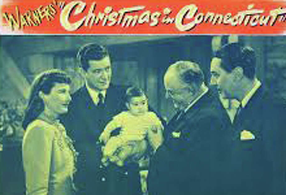 "A poster featuring a scene from the 1945 movie comedy, ""Christmas in Connecticut"" -- a screening of the film will be featured Sunday at a program sponsored by the Westport Cinema Initiative. Photo: Contributed Photo / Westport News contributed"