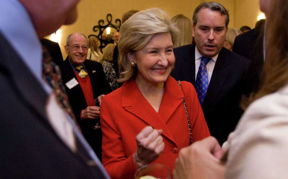 Sen. Kay Bailey Hutchison meets with supporters during The Harris County Republican Party's annual Lincoln-Reagan Day Dinner, Wednesday, February 24, 2010 at the JW Marriott in Houston, Texas. Photo: Billy Smith II, Chronicle / Houston Chronicle